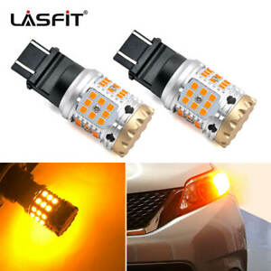 3157 Led Amber Front Turn Signal Light Bulb For Ford E 150 Fiesta Super Bright