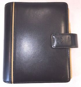 Franklin Covey Black Leather Day Planner Binder 6 X 7 6 1 1 2 Rings