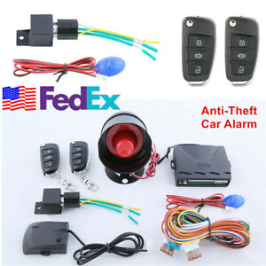 Car Security Alarm System One Way Anti Theft Device Keyless Entry Remote Control