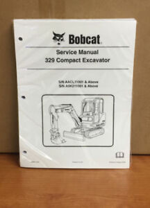 Bobcat 329 Compact Excavator Service Manual Shop Repair Book Pn 6986946