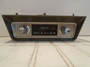 1950s Chevy Delco Am Radio With Under Dash Mount Or In Dash Excellent Shape