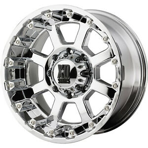18x10 Chrome Xd Strike Wheel 5x5 5x127 24 Offset Xd80781050224n