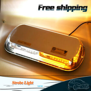 Amber white 44 Led 44w Roof Top Hazard Warning Strobe Light Emergency Flash Lamp