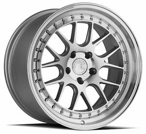 Set Of 4 New Aodhan Wheels Ds06 18x9 5 5x114 3 15 Silver Machined Face