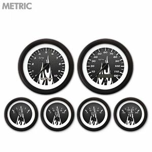 6 Ga Set W Emblem Metric Cf White Flame Black Mod Nedl Black Rngs Kit Diy