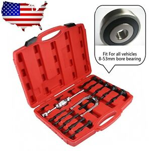 16pcs Inner Bearing Puller Car Disassemble Bearing Blind Hole Remover Extractor
