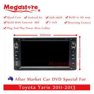 7 Android Car Dvd Gps Player Stereo Head Unit 2 Din For Toyota Yaris 2011 2013
