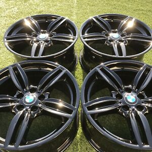 19 Bmw 550i 525i 528i 650i 640i Factory Oem Wheels Rims Black 351 M Orignial