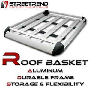 Universal 50 Silver Aluminum Roof Rack Basket Luggage Cargo Carrier Storage Sf6