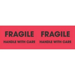 3 X 10 Fragile Handle With Care Labels 500 Per Roll