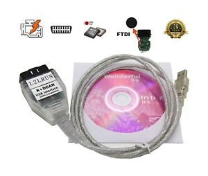 Lzlrun Inpa K can K dcan Car Diagnostic Tool Cable Obd Usb Interface For Bmw