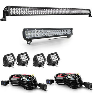 54inch Led Light Bar Combo 20inch 4 18w Pods Fit Offroad Ford Trucks Vs 52 22