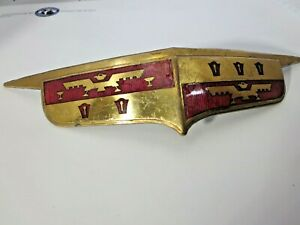 1946 Desoto Gold And Red Emblem Front End Hood Badge Logo Symbol