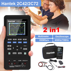 Hantek Digital Oscilloscope multimeter 2in1 40 70mhz Bandwidth 2c42 2c72 Tester