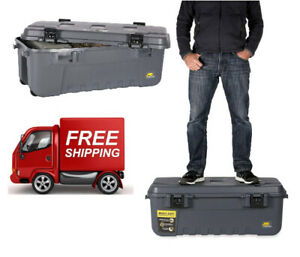 Large Pickup Truck Trunk Bed Storage Tool Box Garage Chest Trailer Camping Gray