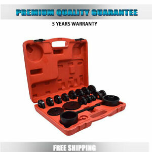 23pcs Front Wheel Drive Bearing Removal Adapter Puller Pulley Tool Set W case