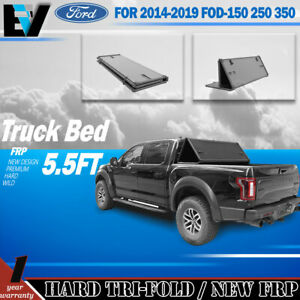 Fit For 2014 2019 Ford F150 5 5ft New Body Truck Bed Hard Tri fold Tonneau Cover