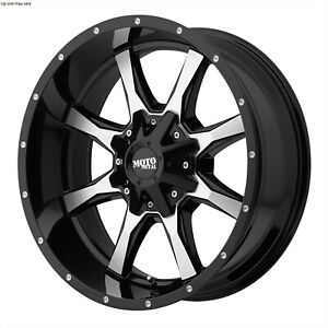 18 Inch 6 Lug 6x135 6x139 7 6x5 5 Black N Machined Wheels 18x9 18mm 4 Rims