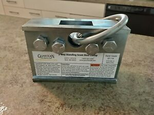 New Old Stock Guardian 2 way Standing Seam Roof Clamp Part 10600 Fall Protect