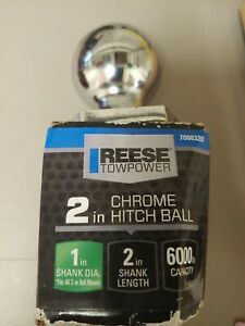 Trailer Hitch Ball 2 Inch Diameter Tow 1 Shank Steel For Mount