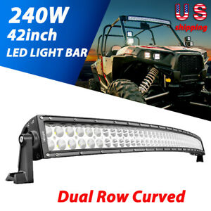 Nilight Curved 42 240w Led Work Light Bar Off Road For Ford Trucks Driving Lamp
