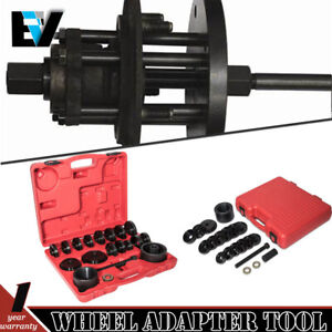 Wheel Drive Bearing Puller Adapter Press Kit Removal Install Tool Carring Case