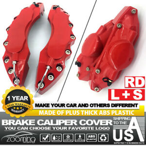 4x Red Brake Caliper Covers Style Disc Universal Car Front Rear Kits L s Lw01