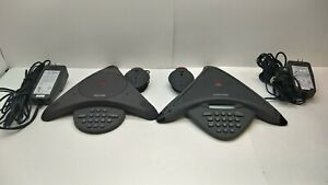 lot Of 2 Polycom Soundstation Wall Mountable Business Conference Speaker Phone