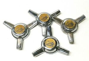 Vintage Chevrolet Corvette Hub Cap Wheel Spinner Caps Set Of 4 Center Caps Only
