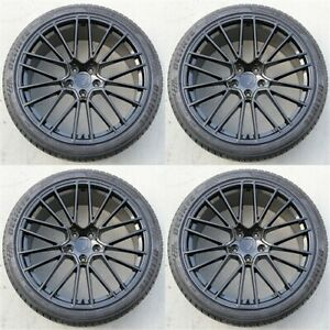 Set Of 4 22 22x10 5x130 Turbo Style Wheels Tires Package Porsche Cayenne