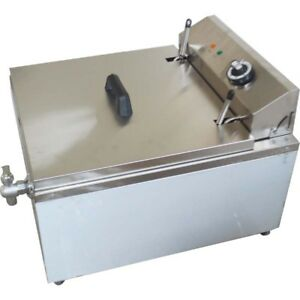 Intbuying 110v Funnel Cake Deep Fryer Machine Round Mold Ring Consistent Shape