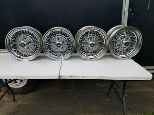 4 Chevy Chevrolet Wire Spoke Wheels Rims Chevelle Impala Low Rider Hot Rod