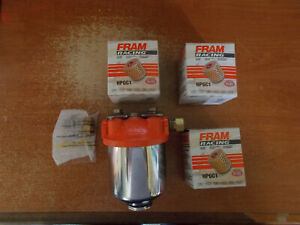 Fram Hpg1 Racing Fuel Filter 3 8 Inlet 3 8 Outlet With New Filters