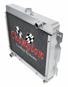 4 Row Atomic Champion Radiator For 1970 1971 1972 Plymouth Duster Big Block