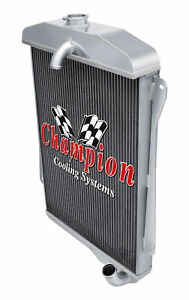 3 Row Atom Champion Radiator For 1940 1941 Chevrolet Special Deluxe L6 Engine