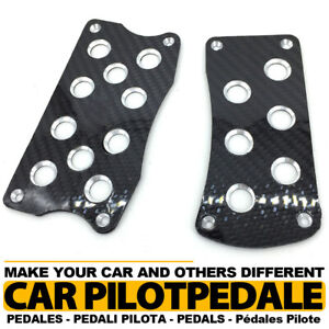 Carbon Fiber Black At Universal Racing Non Slip Automatic Car Pedals Pad 3pc Set