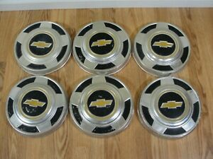 Lot Of 6 Vintage Gold Bow Tie Chevy 2wd Truck Hubcaps Hub Cap Dog Dish 10 5