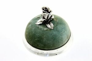 Early Antique Rare Tiffany Company Makers Sterling Silver Rose Pin Cushion