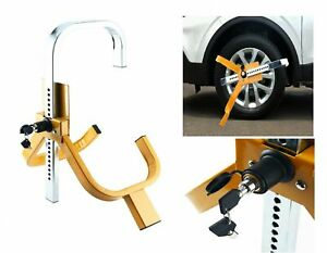 Adjustable Trailer Tire Wheel Lock Clamp Boot Anti theft Security Towing Durable