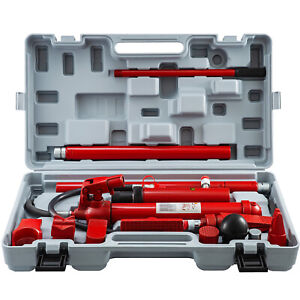 12 Ton Porta Power Hydraulic Jack Auto Body Frame Repair Kits Lift Ram 2 M Hose