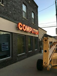 Computer Repair Retail Outdoor Led Sign
