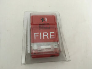 nib new Est Edwards G1rf hov75 Fire Alarm Temporal Horn strobe Wall Red