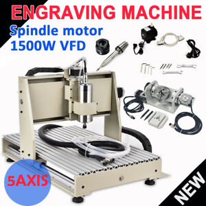 5 Axis 6040 Cnc Router Engraving Machine Metal Milling Machine 1 5kw Usb Port Us
