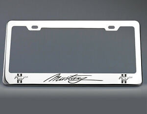 Ford Mustang License Plate Frame Stainless Steel With Laser Engraved