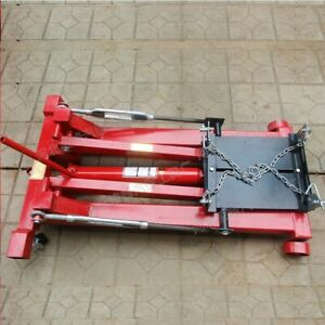 2 Ton 4400lbs Floor Low Profile Transmission Jack Lift 1000 Lbs Cap Chain Kit