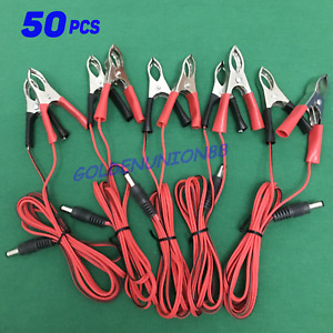 50pc Alligator Clip Crocodile Clamp 1 5m Wiring Cable Dc Head Forbattery Charger