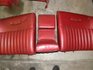 1967 Ford Thunderbird Front Bucket Seats Seat Surrounds Rear Seat W Arm Rest