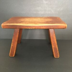 Cushman Colonial Furniture Wood Foot Stool Cricket 9038 Bennington Vermont