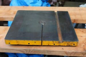 Walker Turner 16 Square Bandsaw Table Solid Condition 8 Slot Good Condition