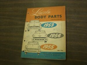 Oem Ford 1953 1955 Lincoln Master Parts Book Bpdy 1954 Capri Continental Nos